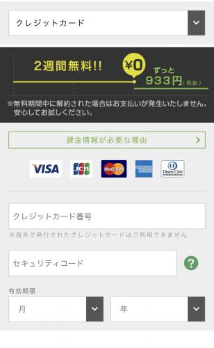 hulu(フールー)の登録のしかた5支払い方法