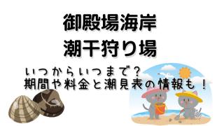 三重県に位置する御殿場海岸の潮干狩り場の期間や料金と潮見表についてのご紹介をしています