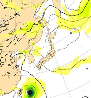 台風15号たまご熱帯低気圧ヨーロッパ気圧配置
