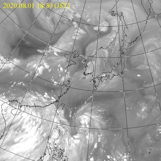 台風3号の雲の様子ウェザーニュース