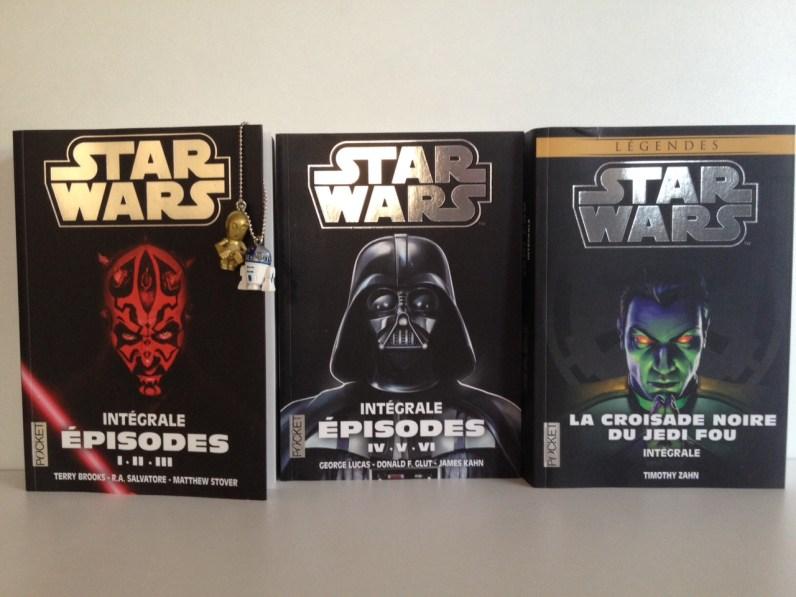 3 trois livres starwars pocket