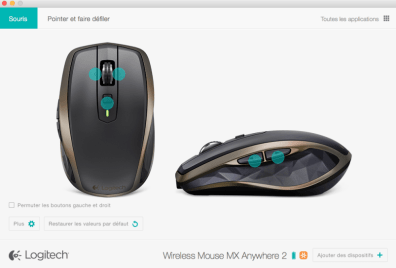 souris MX anywhere 2 config 1