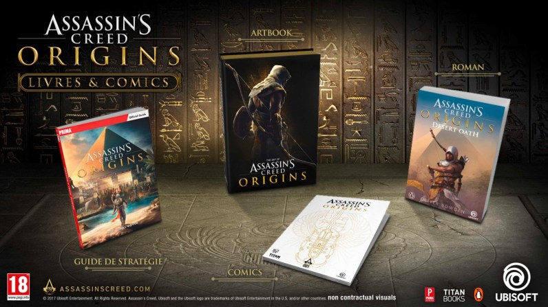 livres Assassin's Creed Origins