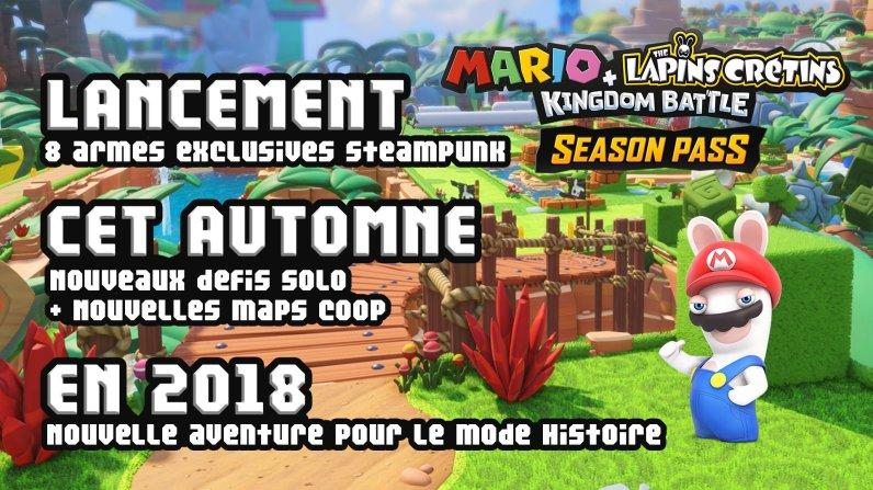Season pass Mario Les Lapins Crétins Kingdom Battle Switch