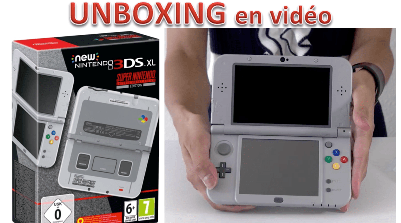 Unboxing New Nintendo 3DS XL SNES Edition