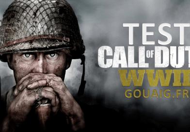 test call of Duty WWII jeu le plus vendu sur console