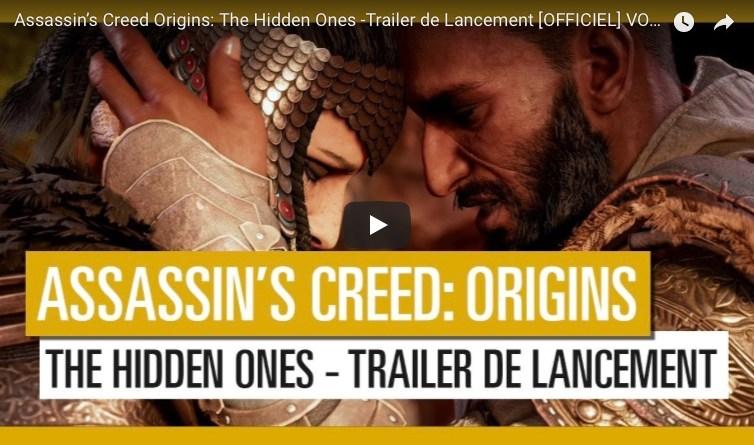 vidéo dlc assassin's creed origins