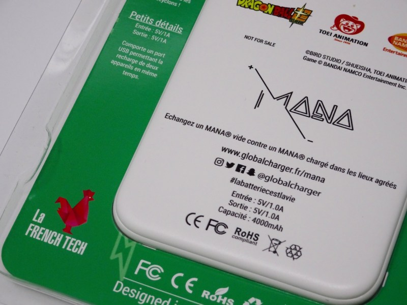 Test Batterie secours Mana Global Charger