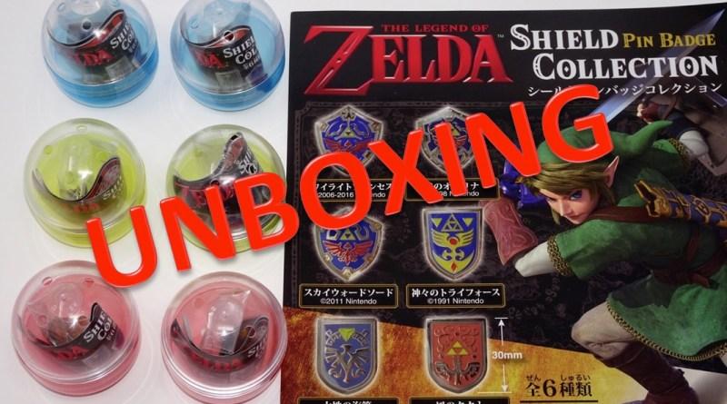 Unboxing gashapon Zelda Pins boucliers Link - Gouaig