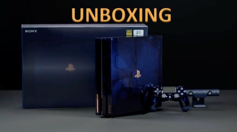 unboxing PS4 Pro 500 millions