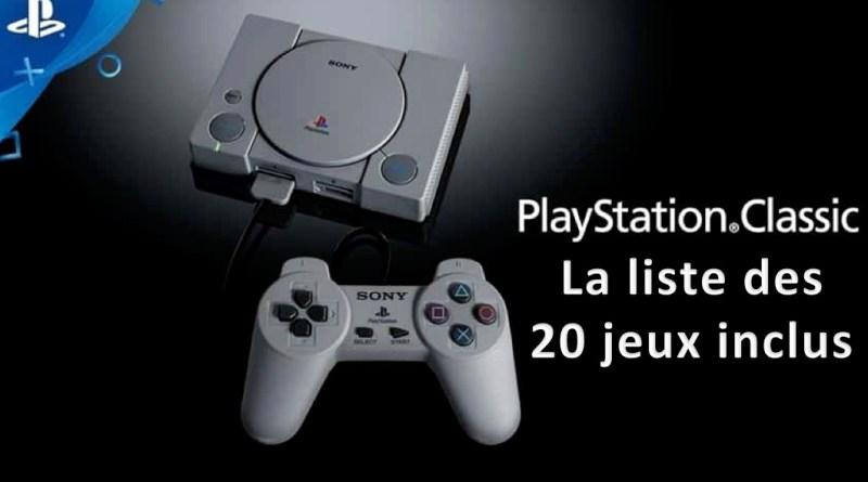 Liste 20 jeux inclus playstation classic