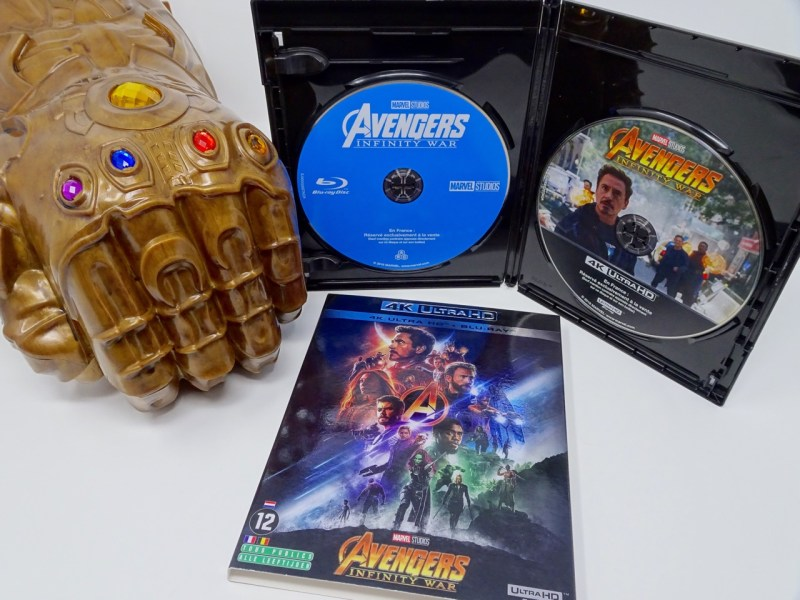 Test Avengers Infinity War Bluray 4K Ultra HD