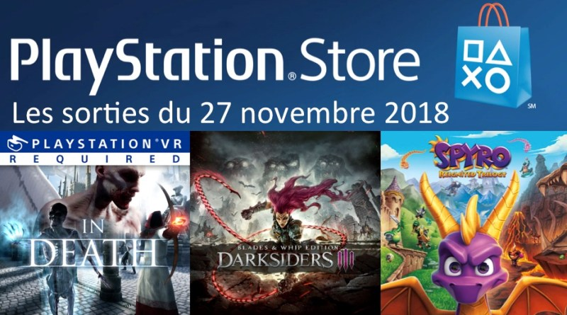 MAJ Playstation Store 27 novembre 2018