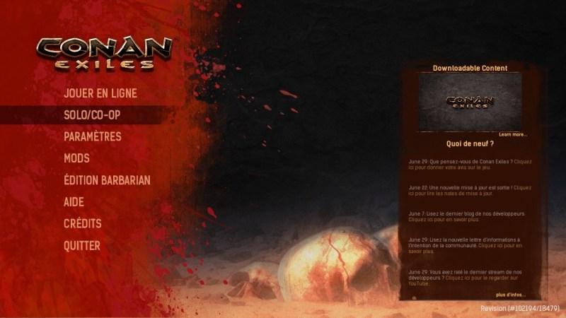 Test Conan Exiles PS4 PC Xbox One