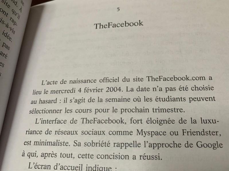 Livre Mark Zuckerberg la biographie