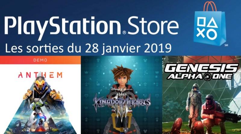 MAJ Playstation Store 28 janvier