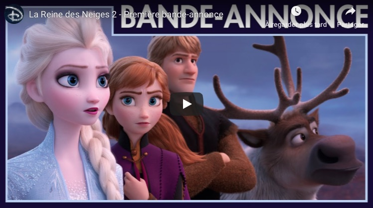 bande annonce Reine des neiges 2 teaser