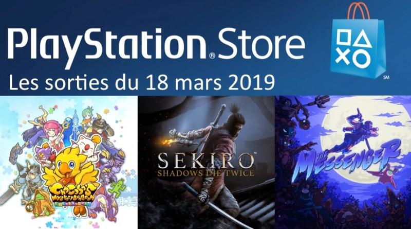sorties Playstation Store 18 mars