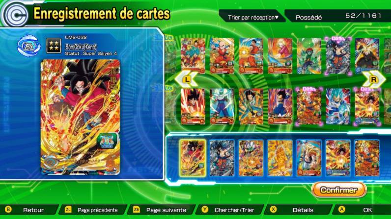 cartes dragon ball heroes