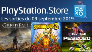 Sorties PlayStation Store 09 septembre 2019