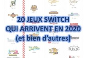 Sorties jeux Switch 2020