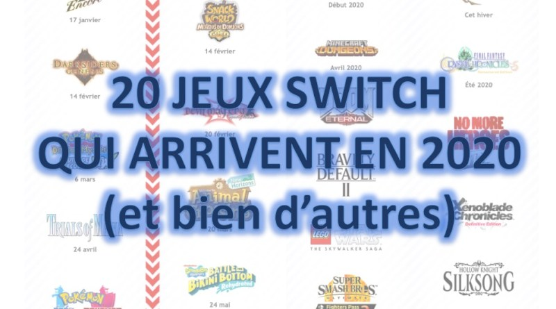 Sorties jeux Switch 2020