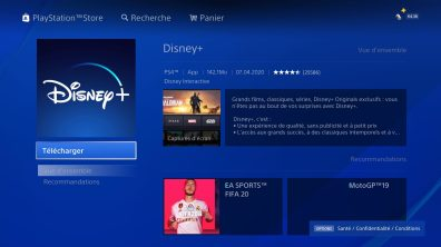 tutoriel Disney+ PS4