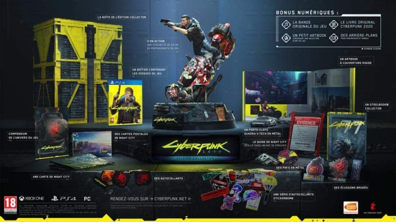 collector cyberpunk 2077 disponible