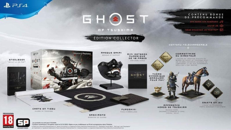 collector ghost of tsushima PS4