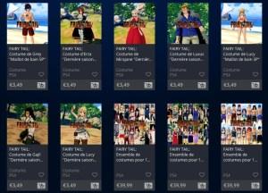 DLC season pass Fairy Tail costume