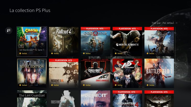 PS plus collection