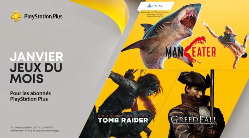 Jeux PS Plus janvier 2021