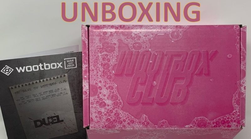 Unboxing Wootbox Duel mars 2021 - gouaig