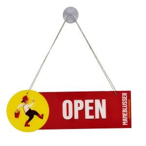 Open Closed sign Maneblusser (open)