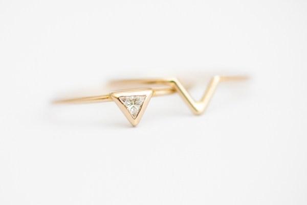 driehoek diamant ring