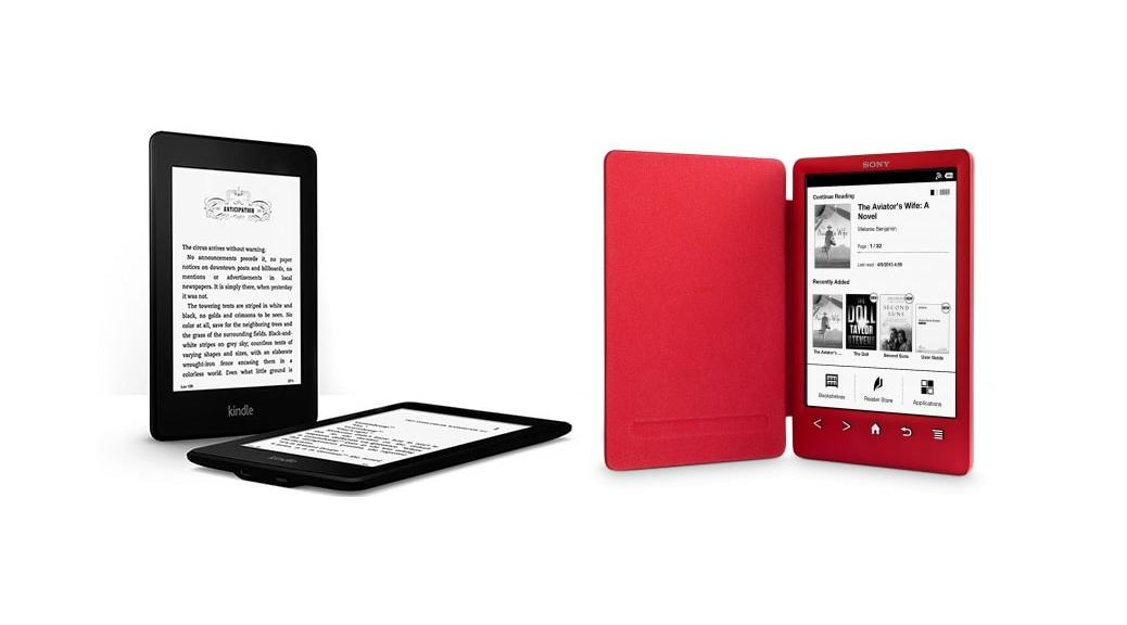 El mejor eBook (eReader) 2014: Kindle Paperwhite vs Sony PRS-T3 Reader