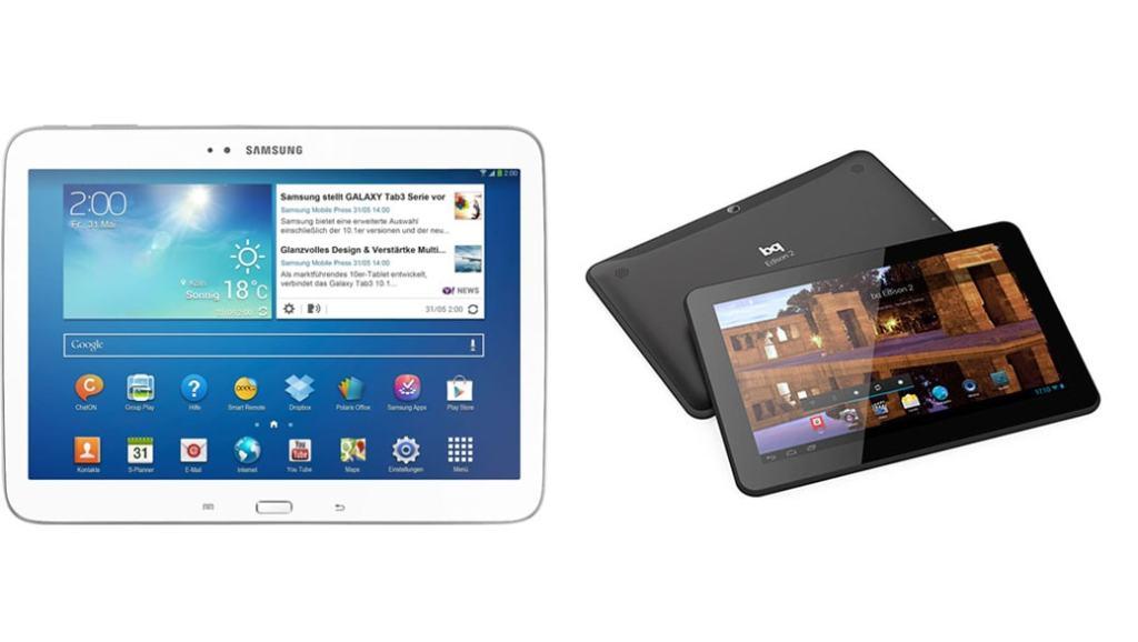 El mejor Tablet en 2014: Samsung Galaxy TAB 3 10.1 vs BQ Edison 2