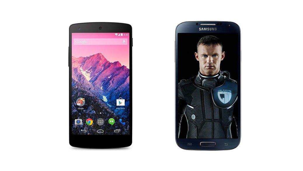 Comparativa Smartphones Google Nexus 5 Vs Samsung Galaxy