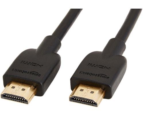 AmazonBasics – Cable HDMI 2.0 de alta velocidad (Ethernet, 3D, vídeo 4K y ARC, 1.8 m)