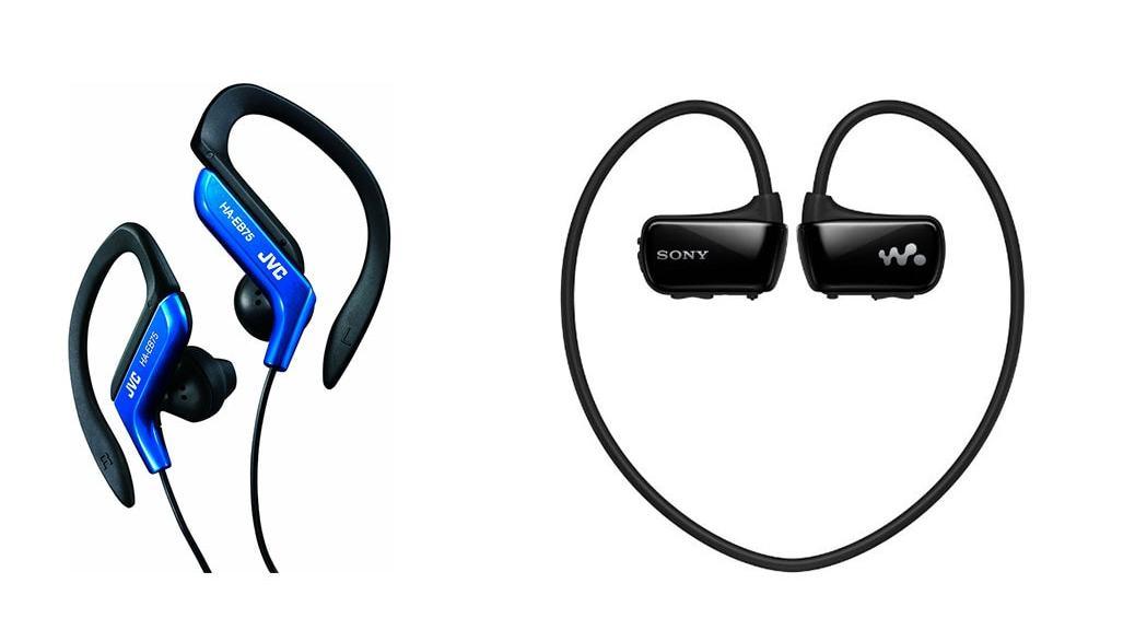 ¿Cuales son los mejores auriculares deportivos en 2014? JVC HA-EB75-A-E vs Sony NWZW273W.CEW