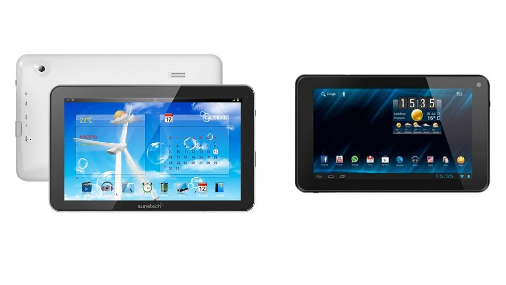 Tablets de gama baja por menos de 100 Euros: Sunstech TAB900 WT, Bogo Lifestyle 7DC