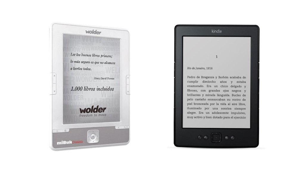 Wolder miBuk Dreams vs Kindle Amazon: Comparativa eReaders