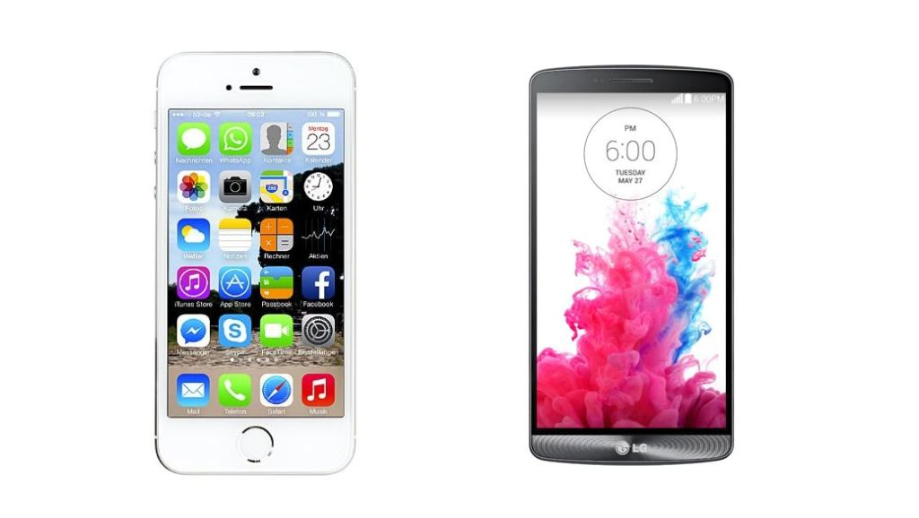 Comparativa Smartphones: LG G3 vs iPhone 5S