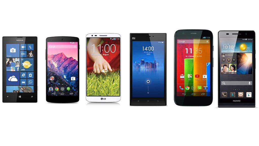 Los 6 mejores smartphones por calidad precio en 2014