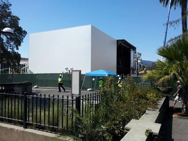 Estructura en el Flint Center for the Performing Arts de Cupertino