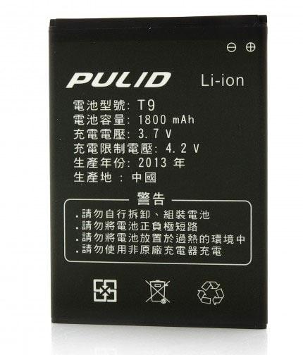 Pulid T9 - bateria