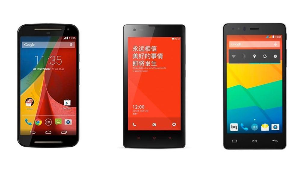 Los 3 smartphones Android de gama baja más interesantes de finales de 2014