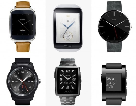 Asus ZenWatch vs Samsung Gear S vs Motorola Moto 360 vs LG G Watch R vs Pebble Steel vs Pebble