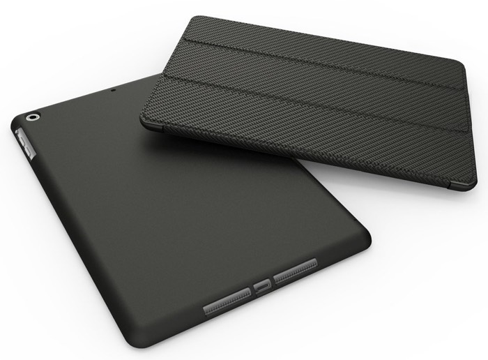 KHOMO FUNDA FIBRA DE CARBONO NEGRA DUAL ipad Air 2
