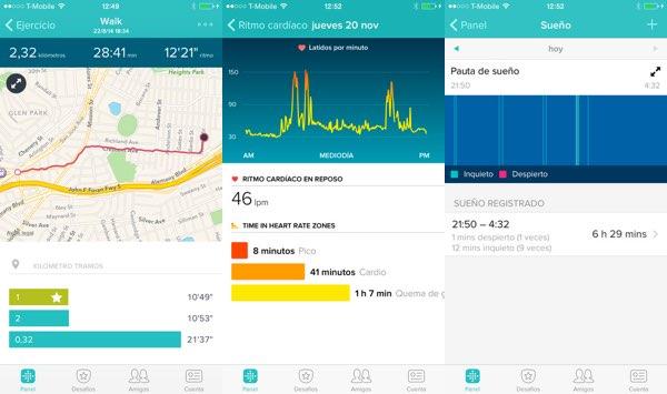 Fitbit Surge - Aplicación